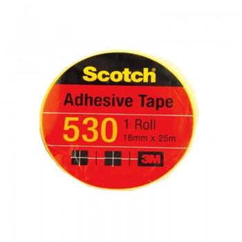 """3M Scotch 530 Tape 18mmx25m (1"""" core)"""