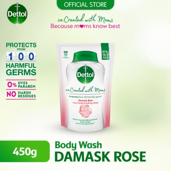 Dettol Co-Created with Mom Rose Shower Gel Refill Pack - 450g