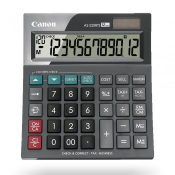 Canon AS-220RTS Business Desktop 12 Digits Calculator