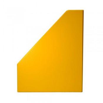 """4"""" PVC Magazine Box File - Yellow"""