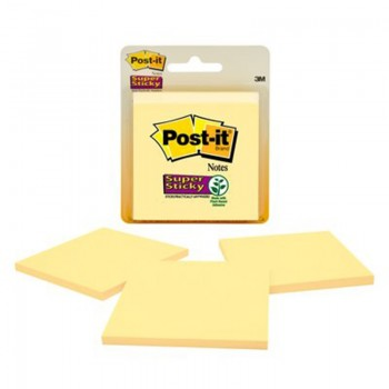 3M 3321-SSCY Post-It Super Sticky Yellow 45's