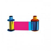 Fargo Eco YMCKO Full Color Ribbon w Resin Black & Clear overlay panel 45610