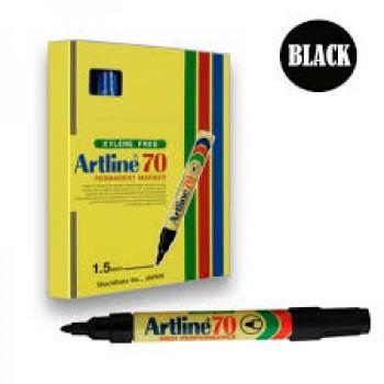 MARKER, PEN, ARTLINE70, PERMANENT,BLACK12PCS/BOX