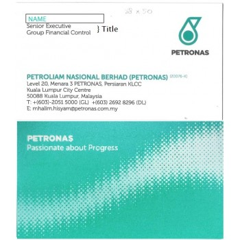 Custom PETRONAS Business Card 100pcs
