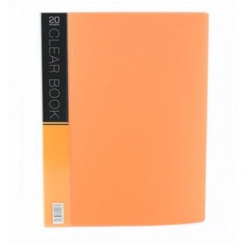 CBE Merry Colour Clear Book VK20 A4 ORANGE ( ITEM NO : B10 54 O )