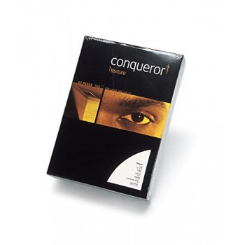Conqueror Laid Textured Ream of Paper A4 100gsm 500 Sheets (Brilliant White)