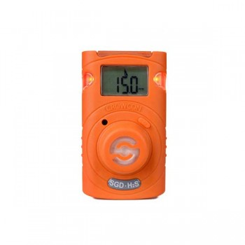 Crowcon Clip SGD Personal Single Gas Detector- H2S