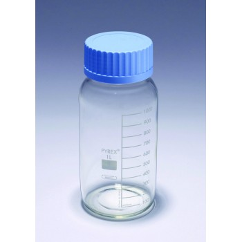 Laboratory Bottles, Round, Clear, Wide Mouth