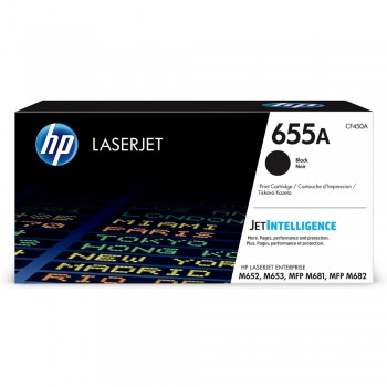 HP 655A Black Toner Cartridge - 12.5k