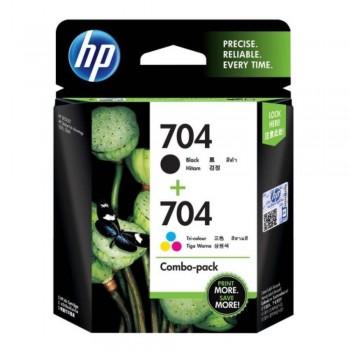 HP 704 Combo Pack Black/Tri-color Original Ink Advantage Cartridges (F6V33AA)