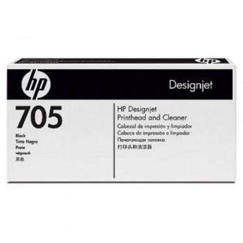 HP 705 DesignJet Printhead/Printhead Cleaner - Black (CD953A)