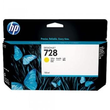 HP 728 130-ml Yellow DesignJet Ink Cartridge (F9J65A)
