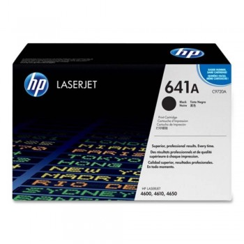 HP 641A Black LaserJet Toner Cartridge (C9720A)