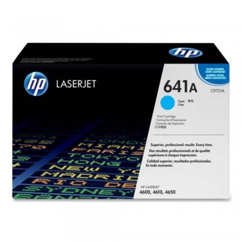 HP 641A Cyan LaserJet Toner Cartridge (C9721A)