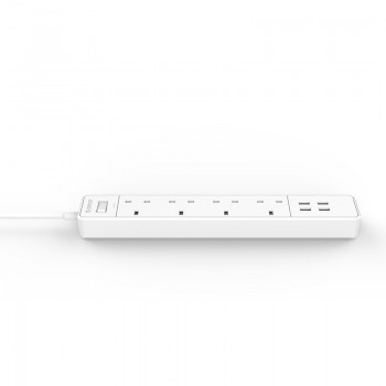 Orico Power Surge Protector 4 UK Socket with 4 USB Charging Port