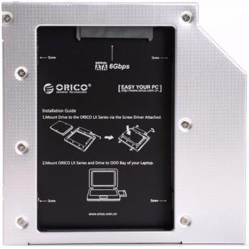 Orico L95SS Laptop Hard Drive Mount for 9.5mm Optical Drive Bay