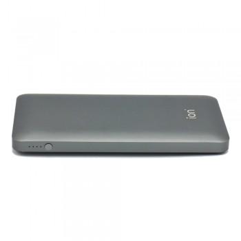Ion PQ72 Qualcomm Quick Charge 3.0 5.4A 30W Dual USB 10000mAh Ultra-Slim, Titanium Grey