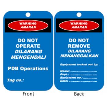 Custom Pre-Order: Lockout Tag - Blue