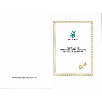 Custom Pre-Order : Certificate Pocket Folder With Printing