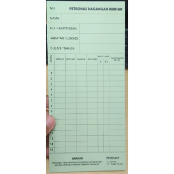 Custom Pre-Order: Time Card with Printing