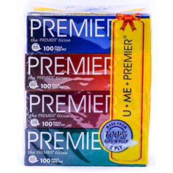 Premier Facial Tissue (100'S X 4 BXS)