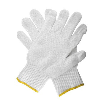 WHITE COTTON HAND GLOVE - 12 PAIR/PACK