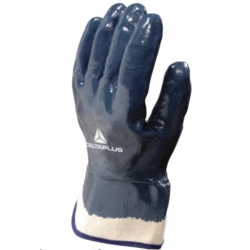 DELTA PLUS NITRILE FULL COATED GLOVE WITH SAFETY CUFF
