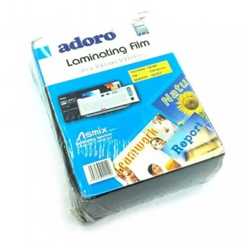 Adoro Laminating Film Pouch ID Size — 70mm x 100mm, 100pcs, 150mic