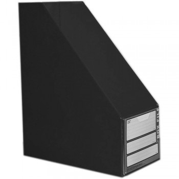 "CBE 06813 5"" PVC Box File (A4) BLACK"