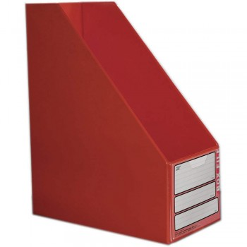 "CBE 06813 5"" PVC Box File (A4) RED"