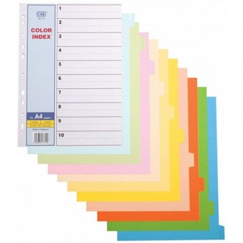 CBE 907-10 - 10 colors Index Divider