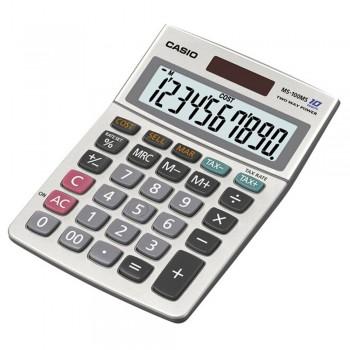 Casio Calculator - 10 Digits, Solar & Battery, Cost/Sell/Margin, Tax Calculation (MS-100MS)
