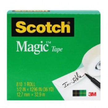 3M 810 MagicTape 1/2 inch x 36YDS