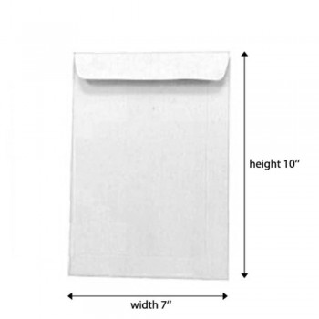 White Envelope - 100gsm - 500 pcs 7-inch x 10-inch (Item No: C03-09) A5R1B10