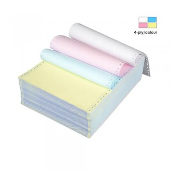 """Computer Form 4 ply 9.5"""" x 11"""" Colour (White/Pink/Yellow/Blue) (500 Fans)"""
