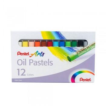 PENTEL ARTS OIL PASTELS 12 COLORS (PHN-12AS)