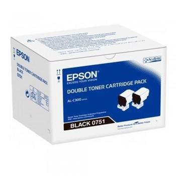 Epson S050751 Black Toner Cartridge Twin Pack