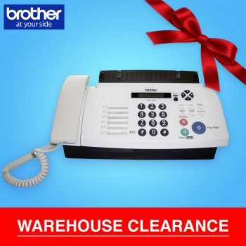 Brother FAX-878 Thermal Fax Machine with Phone Headset (Brother Fax Machine All-in-One Facsimile Fax Printer) - 10 Sheets ADF, 100 Locations Speed Dial, 15 Sec. Transmission Speed, 20 Pages Memory, 2.8KG (Brother 878, FAX878, FAX-878, FAX 878)